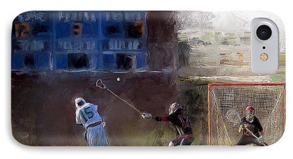 The Lacrosse Shot IPhone Case by Scott Melby