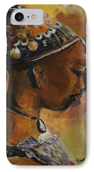 IPhone Case featuring the painting The Lady by Bernadette Krupa