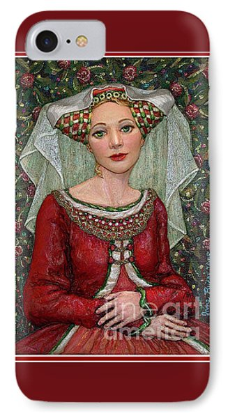 IPhone Case featuring the painting The Lady Mae   Bas Relief Miniature by Jane Bucci