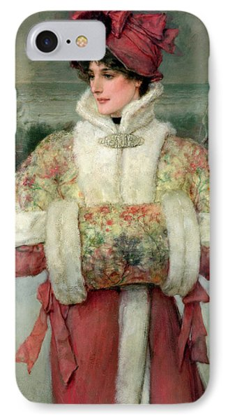 The Lady Of The Snows IPhone Case by George Henry Boughton