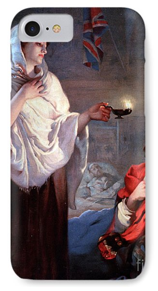The Lady With The Lamp, Florence Phone Case by Science Source