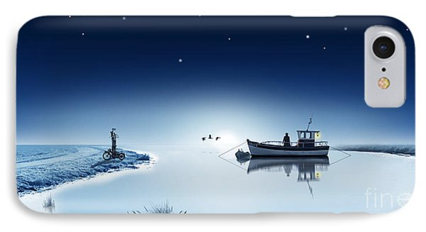 The Lake Is Sleeping In The Wintertime IPhone Case