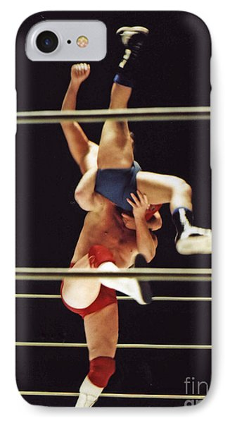 The Landing Is Going To Hurt With Old School Wrestling From The Cow Palace  IPhone Case by Jim Fitzpatrick