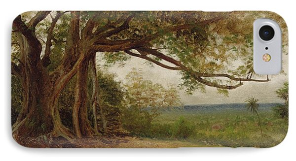 The Landing Of Columbus Phone Case by Albert Bierstadt