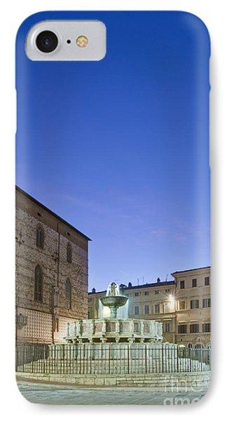 The Landmark Fontana Maggiore IPhone Case