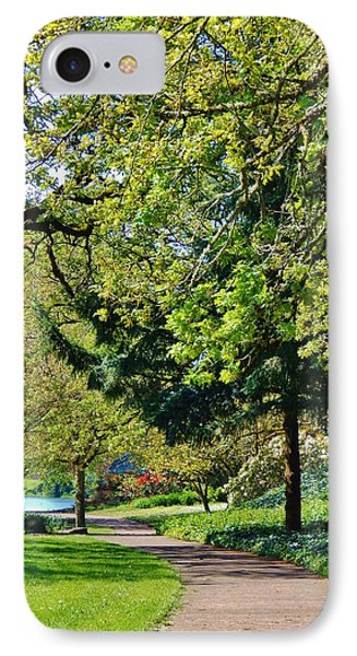 The Lane At Waverly Pond IPhone Case by VLee Watson