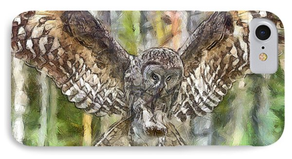 The Largest Owl IPhone Case by Leonardo Digenio