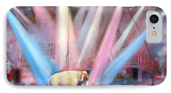 IPhone Case featuring the painting The Last Circus Elephant by Oz Freedgood