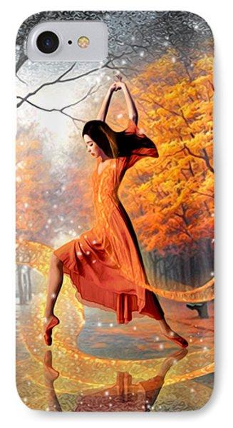 The Last Dance Of Autumn - Fantasy Art  IPhone Case