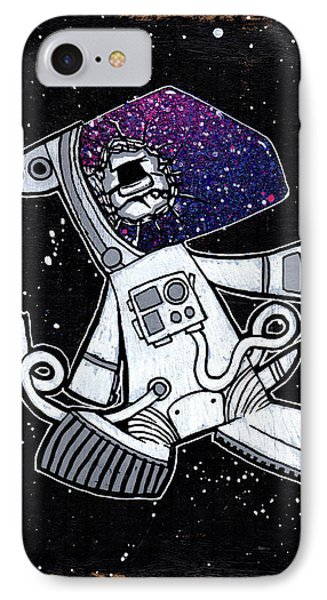 The Last Dog In Space IPhone Case by Bizarre Bunny