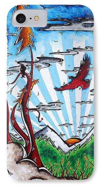 The Last Frontier Original Madart Painting Phone Case by Megan Duncanson
