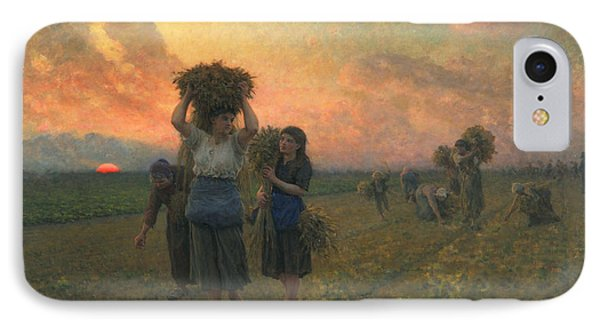 The Last Gleanings IPhone Case by Jules Breton