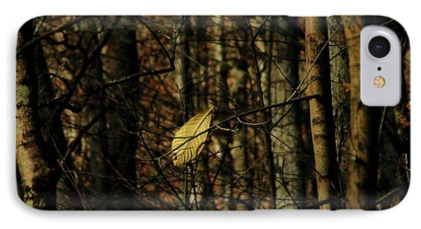 IPhone Case featuring the photograph The Last Leaf by Bruce Patrick Smith