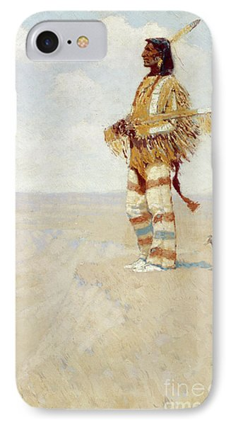 The Last Of His Race  The Vanishing American, 1908 IPhone Case by Frederic Remington