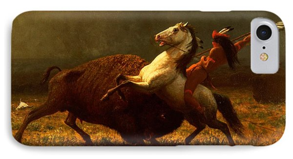 The Last Of The Buffalo IPhone Case by Albert Bierstadt