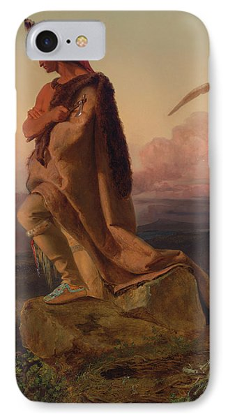 The Last Of The Mohicans IPhone Case by Emanuel Gottlieb Leutze