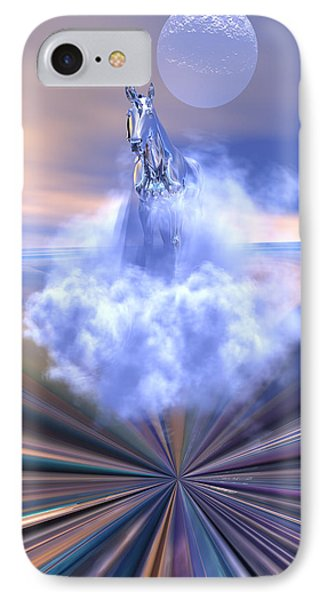 IPhone Case featuring the digital art The Last Of The Unicorns by Claude McCoy