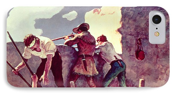 The Last Stand At The Alamo IPhone Case by Newell Convers Wyeth