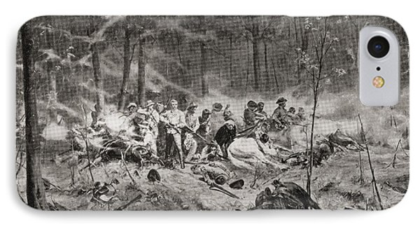The Last Stand Of Major Allan Wilson On IPhone Case by Vintage Design Pics