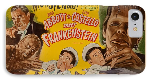 The Laughs Are Monsterous Abott An Costello Meet Frankenstein Classic Movie Poster IPhone Case