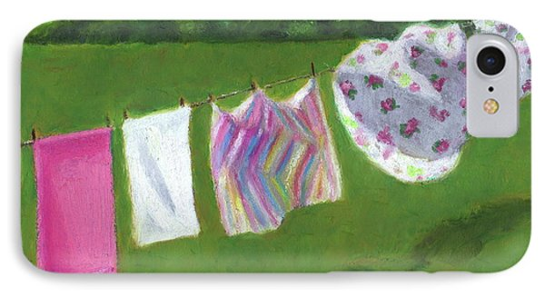 The Laundry On The Line Phone Case by Joyce Geleynse