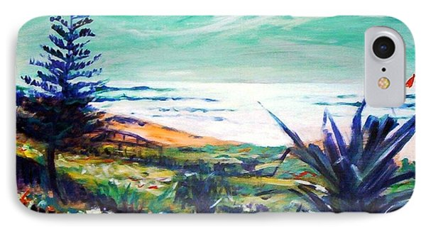 IPhone 7 Case featuring the painting The Lawn Pandanus by Winsome Gunning