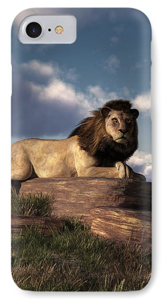 The Lazy Lion IPhone Case by Daniel Eskridge