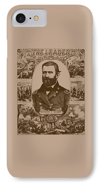The Leader And His Battles - General Grant IPhone Case by War Is Hell Store