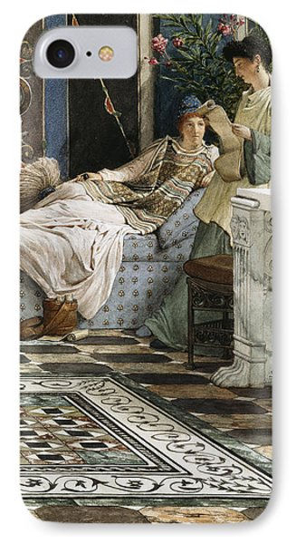 The Letter From An Absent One IPhone Case by Sir Lawrence Alma-Tadema