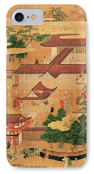 The Life And Pastimes Of The Japanese Court - Tosa School - Edo Period IPhone Case by Japanese School