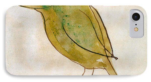 The Light Green Bird IPhone Case by Edward Lear