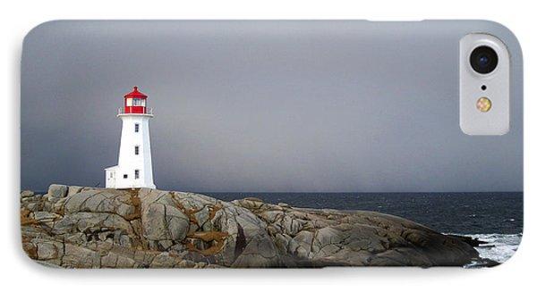 The Lighthouse At Peggys Cove Nova Scotia Phone Case by Shawna Mac