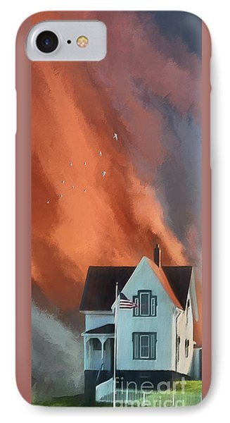 The Lighthouse Keeper's House IPhone Case by Lois Bryan