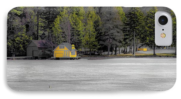 IPhone Case featuring the photograph The Lighthouse On Frozen Pond by David Patterson