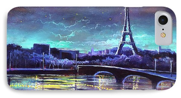 The Lights Of Paris IPhone Case by Randy Burns