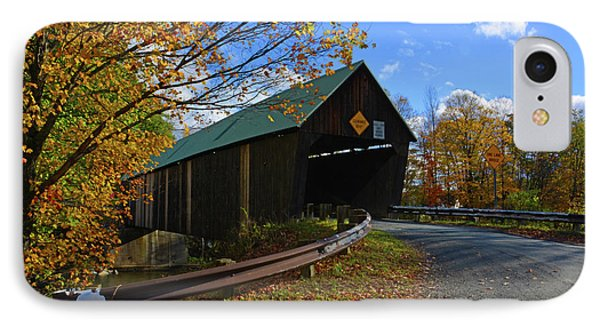 The Lincoln Covered Bridge IPhone Case by Mike Martin