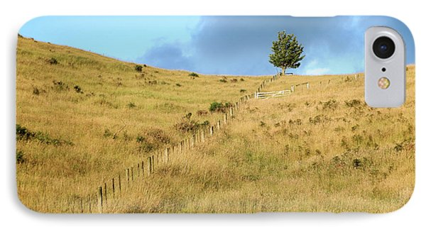 IPhone Case featuring the photograph The Lines The Tree And The Hill by Yoel Koskas