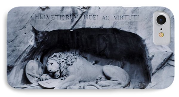 The Lion Of Lucerne Phone Case by Dan Sproul