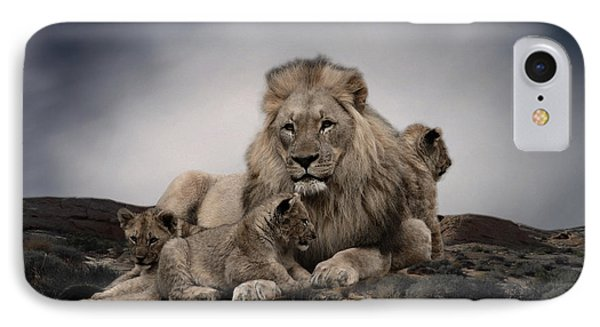 IPhone Case featuring the photograph The Lions by Christine Sponchia