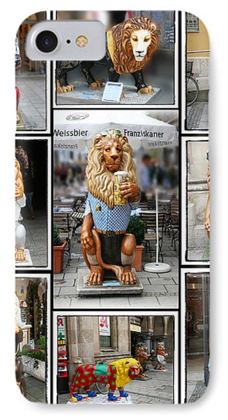 The Lions Of Munich IPhone Case by Diana Haronis