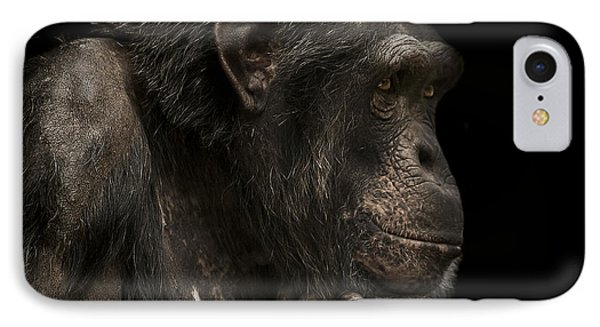 Chimpanzee iPhone 7 Case - The Listener by Paul Neville