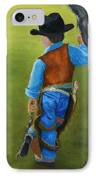 The Little Cowboy IPhone Case by Karyn Robinson