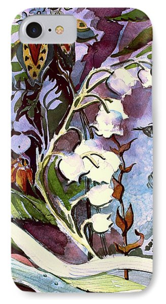 IPhone Case featuring the painting The Little Gardener by Mindy Newman