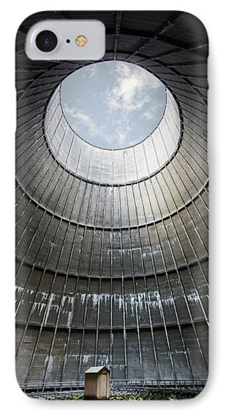 IPhone Case featuring the photograph The Little House Inside The Cooling Tower by Dirk Ercken