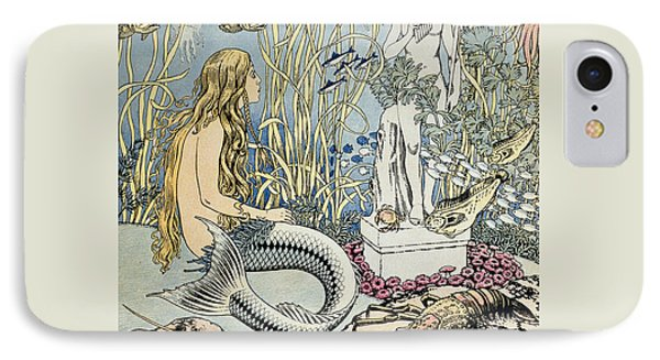 The Little Mermaid IPhone Case by Ivan Jakovlevich Bilibin