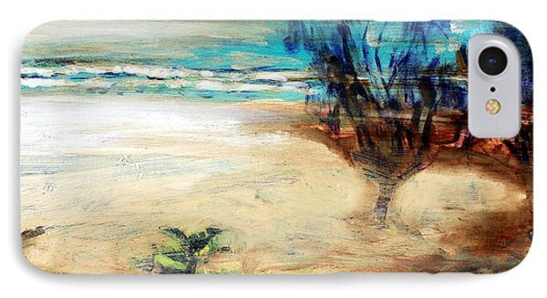 IPhone Case featuring the painting The Little Pine Tree by Winsome Gunning