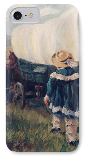 The Little Pioneer Western Art Phone Case by Kim Corpany