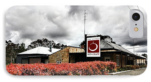 IPhone Case featuring the photograph The Little Red Grape Winery   by Douglas Barnard