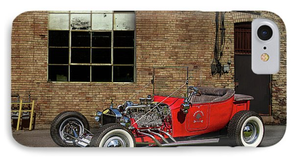 The Little Red Hot Rod IPhone Case by Nick Gray