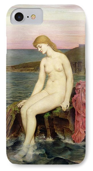 The Little Sea Maid  IPhone Case by Evelyn De Morgan